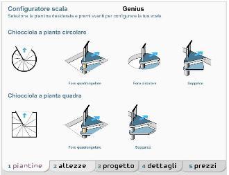 Configuratore fontanot basta un click per progettare la for Configuratore scale