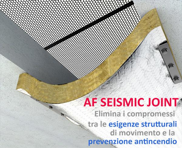 AF Seismic Joint: elimina i compromessi tra le esigenze strutturali di movimento e la prevenzione antincendio