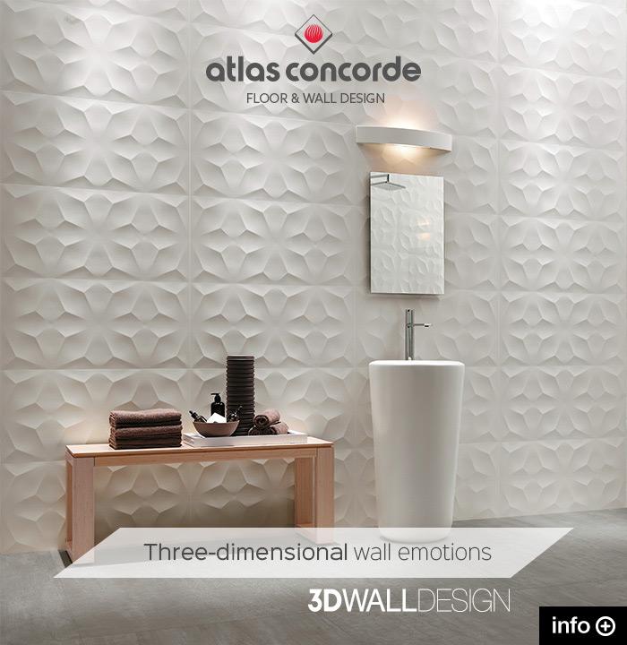 Scenografici rivestimenti tridimensionali: 3D Wall Design by Atlas Concorde