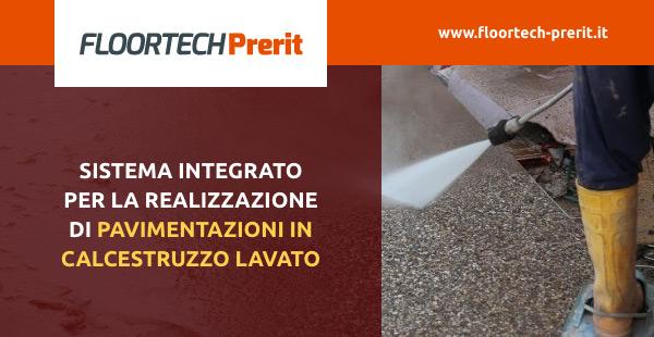 Sistema integrato per la realizzazione di pavimentazioni in calcestruzzo lavato
