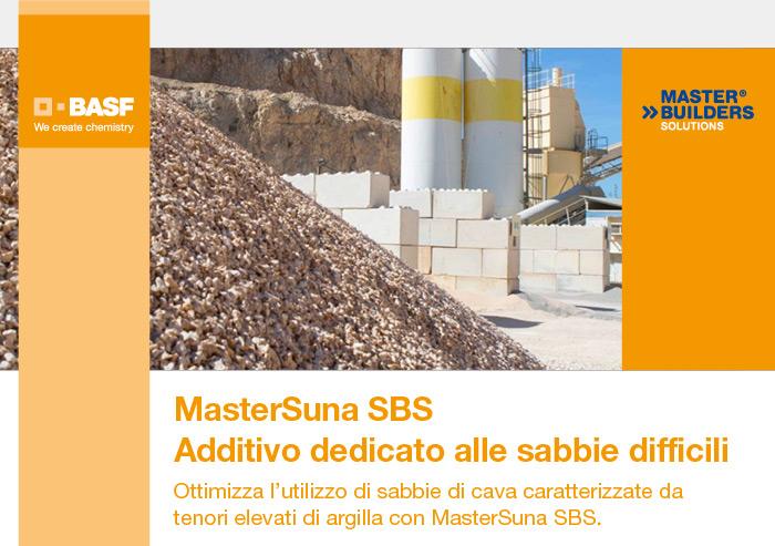 BASF - MasterSuna SBS. Addittivo dedicato alle sabbie difficili