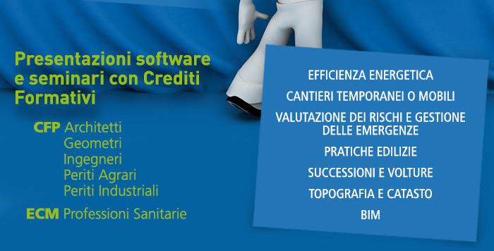 Presentazioni software e seminari con Crediti Formativi