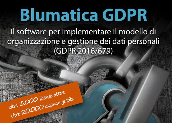 Blumatica GDPR - Il software per implementare il modello di organizzazione e gestione dei dati personali (GDPR 2016/679)