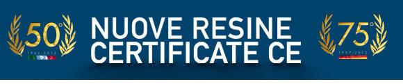 Nuove resine certificate CE