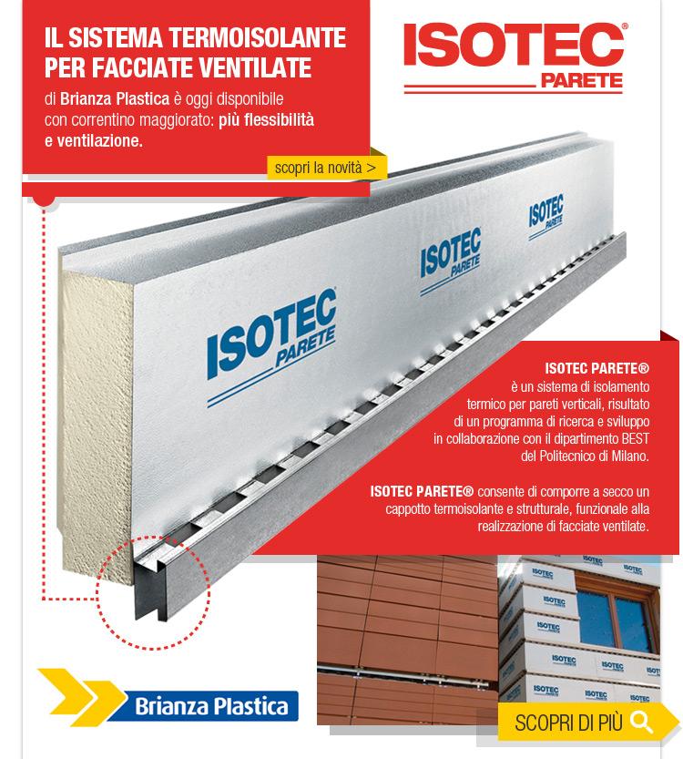 Facciate Ventilate: come aumentare la ventilazione. Il sistema Isotec Parete