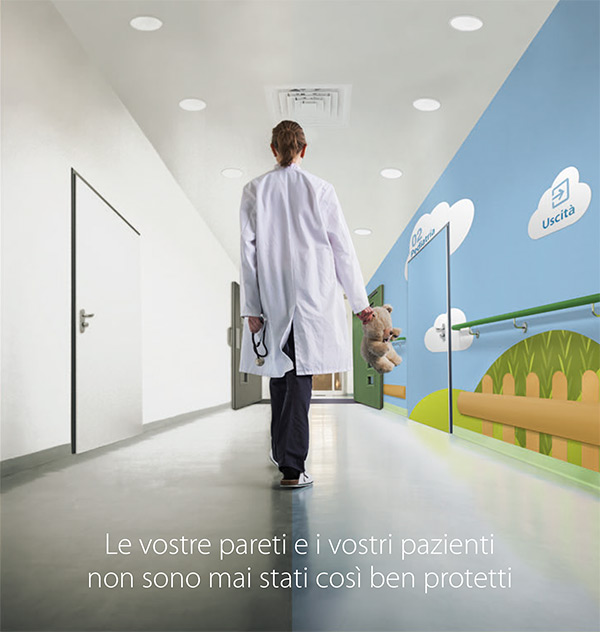 Le vostre pareti e i vostri pazienti non sono mai stati così ben protetti