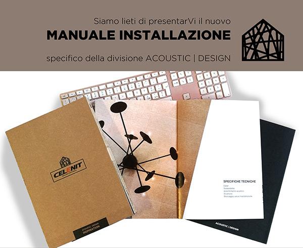 Nuovo Manuale Installazione di Celenit, specifico della divisione ACOUSTIC   DESIGN