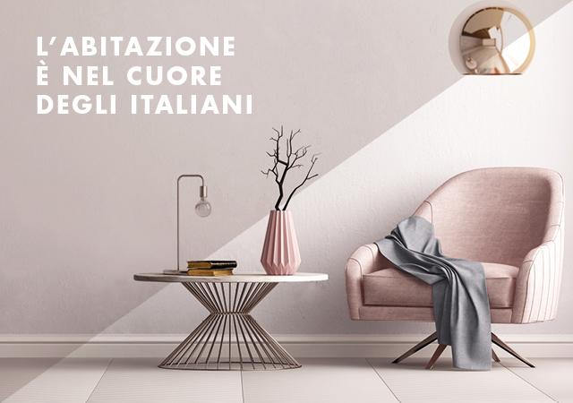 L'abitazione è nel cuore degli italiani
