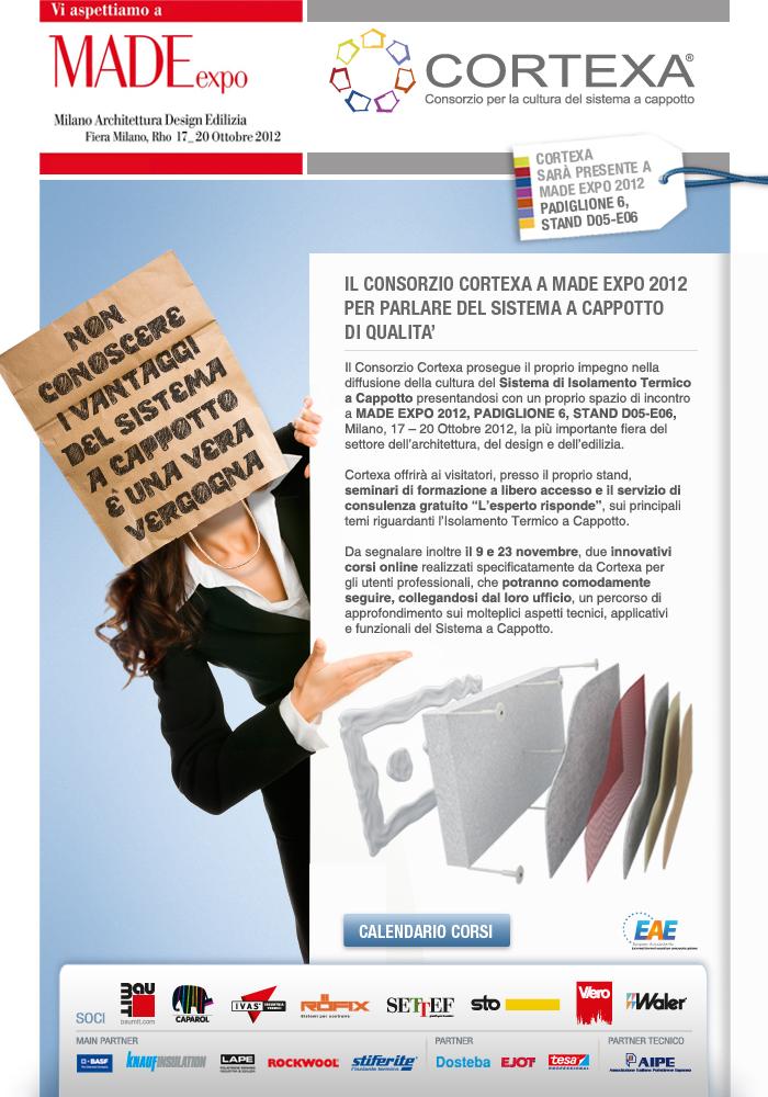 Il consorzio Cortexa a Made Expo 2012 per parlare del sistema a cappotto di qualità