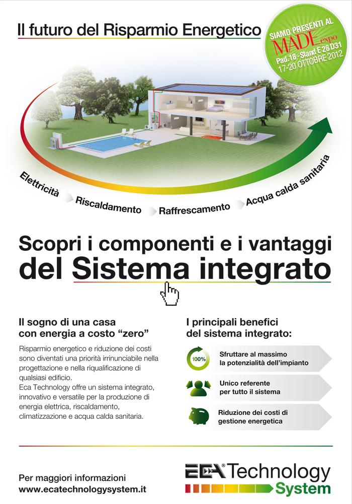 Il sistema integrato: il futuro del risparmio energetico. Clicca qui per maggiori informazioni