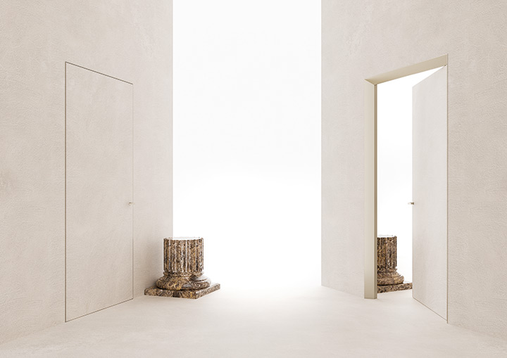 Eclisse 40 Collection - Porta chiusa e aperta