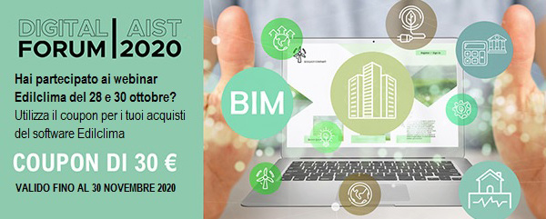 Coupon di 30 euro Digital Forum AIST 2020