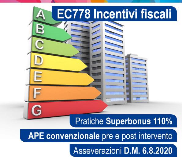 Pratiche Superbonus 110%, APE convenzionale pre e post intervento, Asseverazioni D.M. 6.8.2020