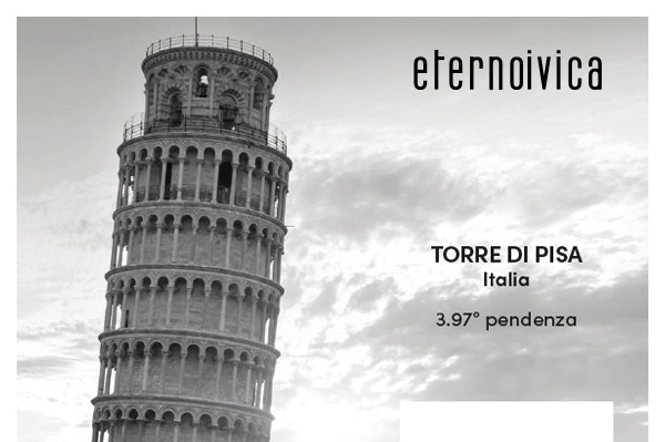 Torre di Pisa, Italia. 3.97° pendenza.