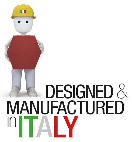 Designed & manufactured in Italy