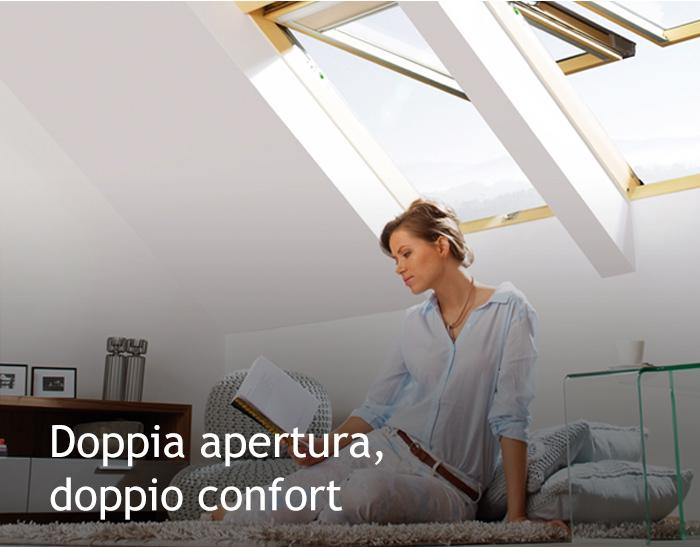 Doppia apertura, doppio confort