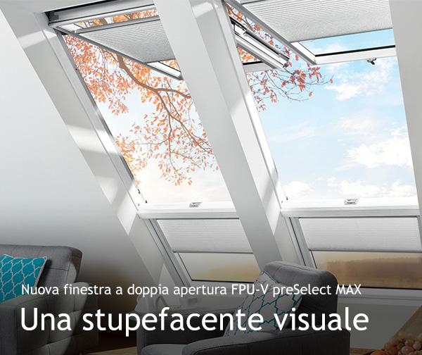 Nuova finestra a doppia apertura FPU-V preSelect MAX