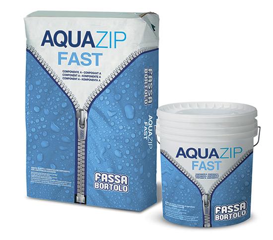 Aquazip Fast: innovativa guaina elastica cementizia a rapido asciugamento