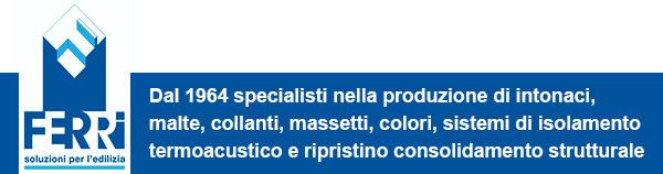 Dal 1964 specialisti nella produzione di intonaci, malte, collanti, massetti, colori, sistemi di isolamento termoacustico e ripristino consolidamento strutturale