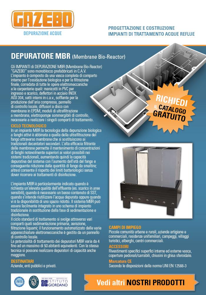 Depuratore MBR (Membrane Bio-Reactor) Richiedi il catalogo gratuito!