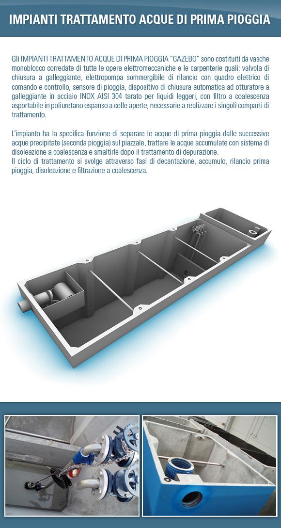 Impianti trattamento acque di prima pioggia