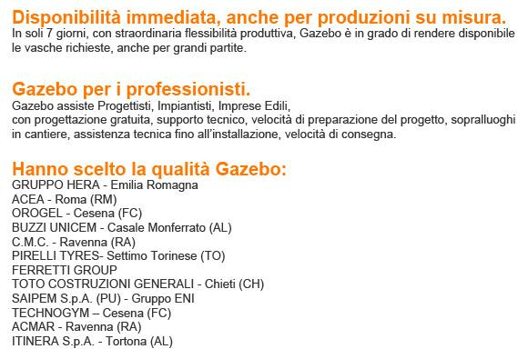 visita il nostro sito www.gazebo.it