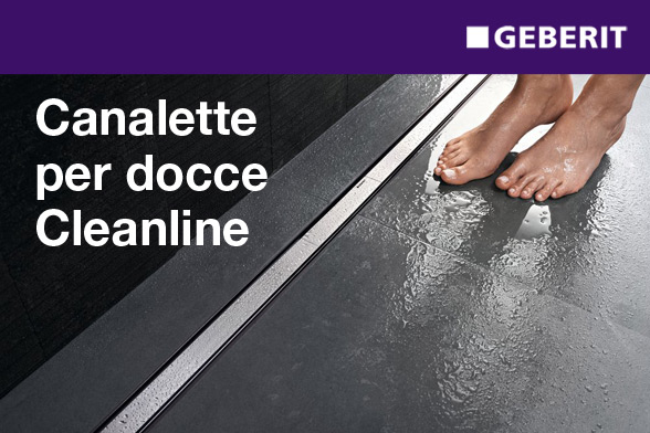 Canalette per docce CleanLine