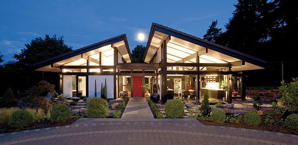 Ville in legno di lusso for Case moderne planimetrie