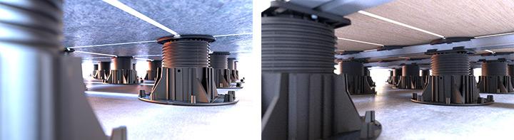 Balance Pro per la posa di pavimenti flottanti per esterni