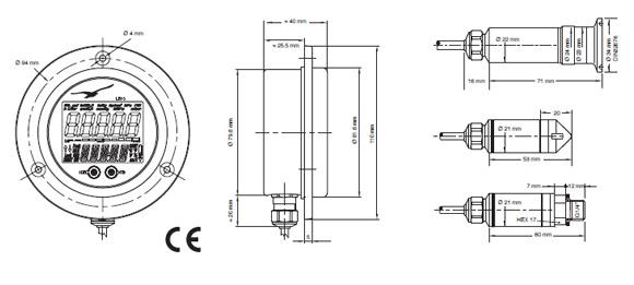Manometro digitale per indicazione del contenuto di serbatoi ventilati o pressurizzati