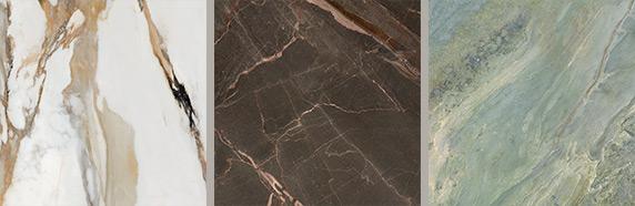Linea di marmi e pietre con 6 scelte cromatiche