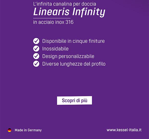 Linearis Infinity in acciaio inox 316. Scopri di più
