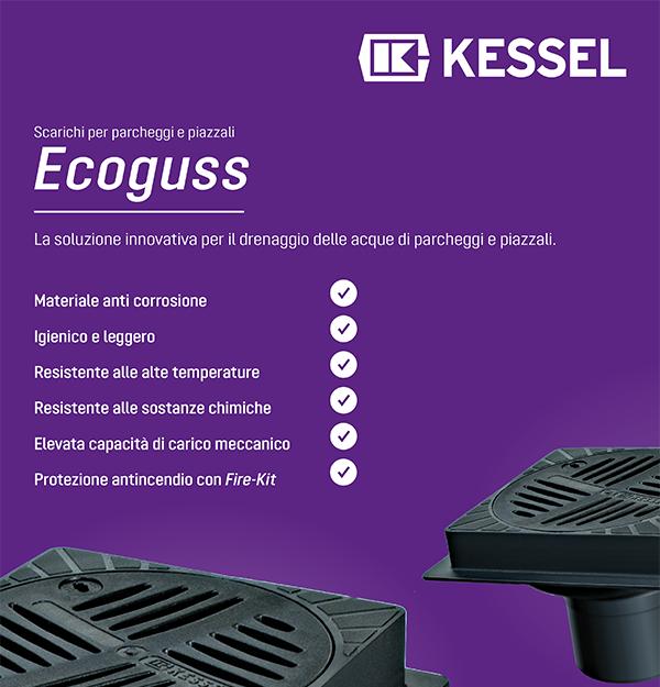 Kessel - Ecoguss: scarichi per parcheggi e piazzali