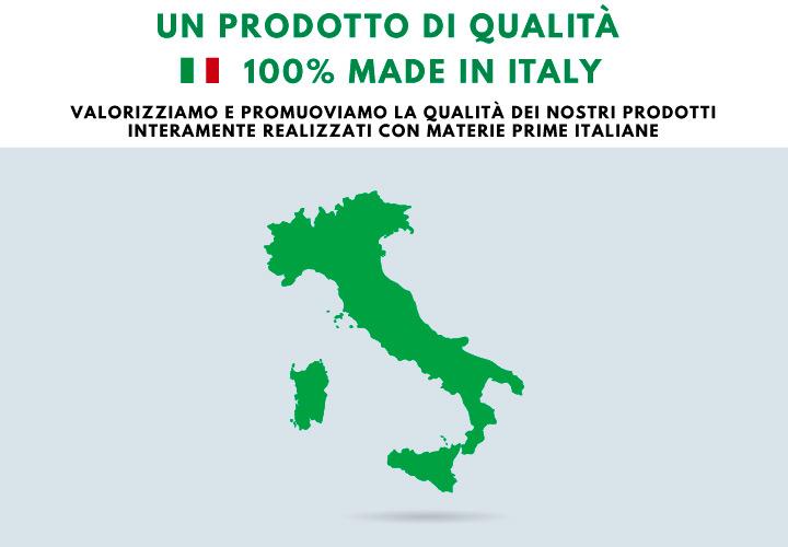 Un prodotto di qualità 100% made in Italy