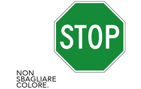 STOP! Non sbagliare colore.