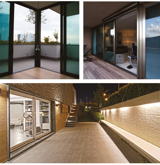 Sistema per finestre e porte scorrevoli di grandi dimensioni