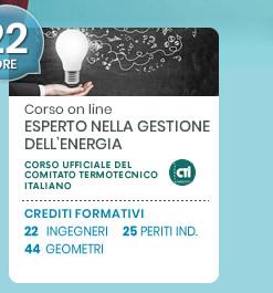 Corso on line: Esperto nella gestione dell'energia. Scopri di più!