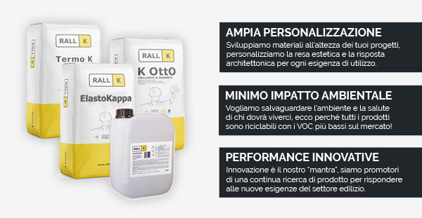 Ampia personalizzazione, minimo impatto ambientale e performance innovative