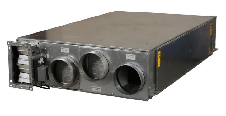 Deumidificatore e deuclimatizzatore con recuperatore di calore L-W / L-K-W