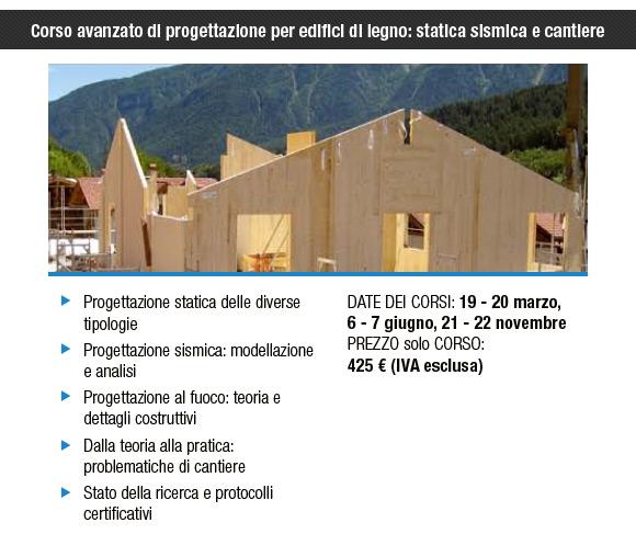 Corsi per progettisti del settore legno