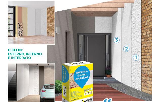 Monoprodotto per il risanamento e l'isolamento termico di murature umide e saline