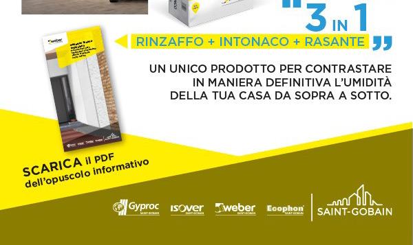 Rinzaffo + intonaco + rasante Weber