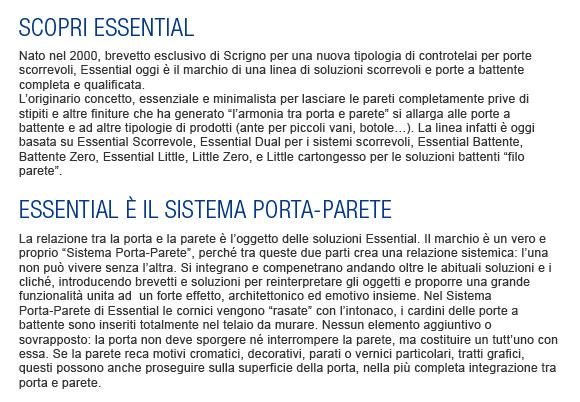Essential - Sistema Porta-Parete