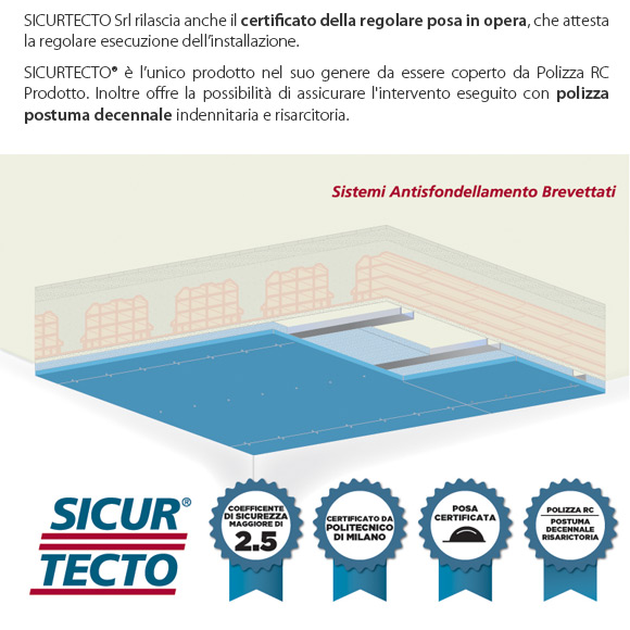 Sicurtecto - sistema antisfondellamento