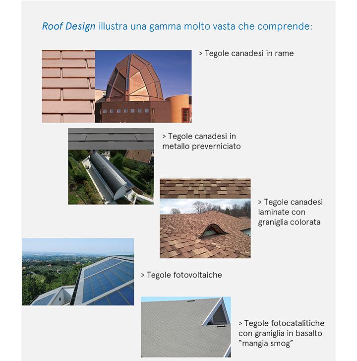 Ispirazioni e Design per le coperture con Tegola Canadese