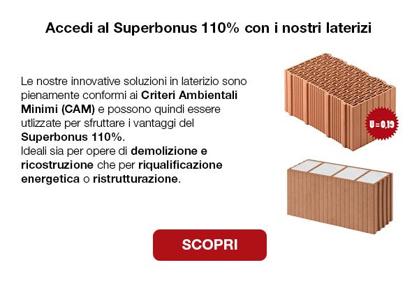 Accedi al Superbonus 110% con i nostri laterizi. Scopri