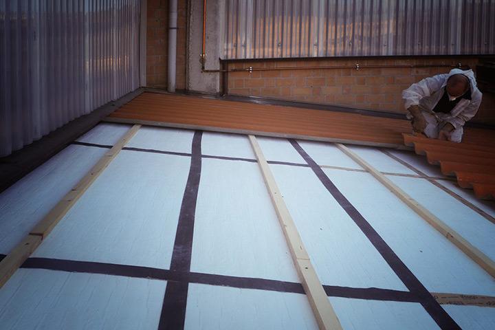 Amagel A2 è perfetto per l'isolamento termico di tetti