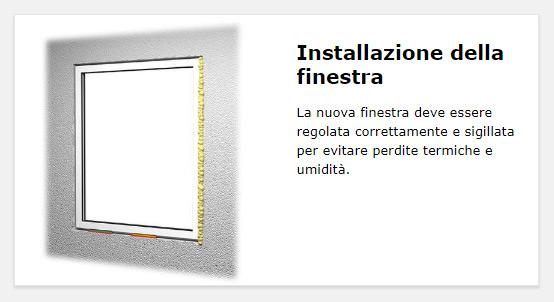 Fasi operative Berner: installazione della finestra