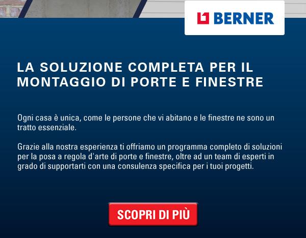 Berner: la soluzione completa per il montaggio di porte e finestre. Scopri di più