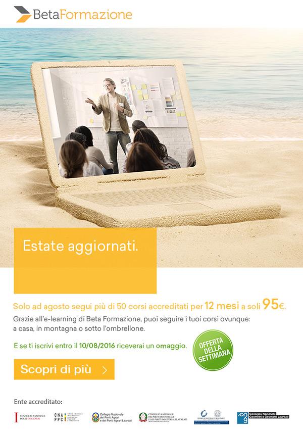 Solo ad agosto segui più di 50 corsi accreditati per 12 mesi a soli 95€